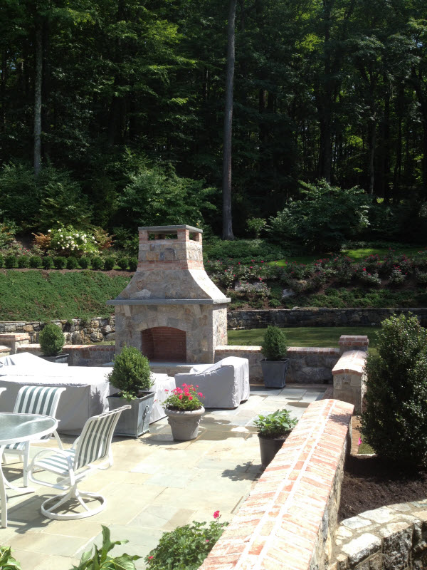 Patio and Fireplace | DeWane Landscape and Design