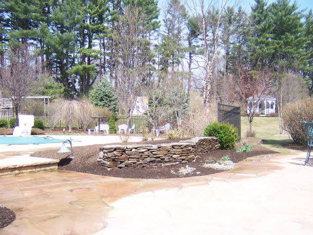 Pool Retaining Wall Dewane Landscape and Design