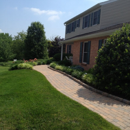 Brick Path Dewane Landscape and Design