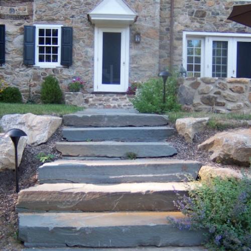 Front Slate Steps